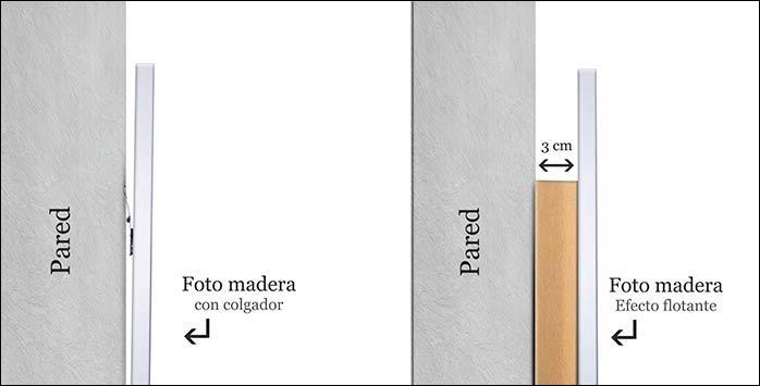 foto madera con colgador o separador